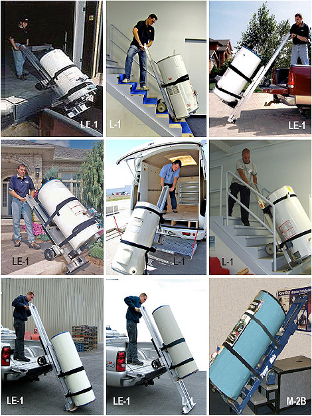Moving hot water tanks