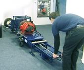 Loading motor in horizontal position