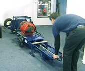 loading a powermate in the horizontal position