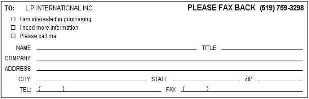 Faxing Form