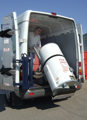 Moving hot water heaters