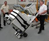 Moving medical equipment
