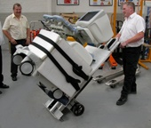 Moving medical equipment