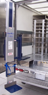 The LiftGate LG-6 mounted in a box truck