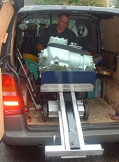 Unloading motor with L-Series machine